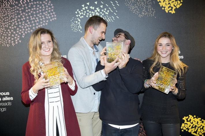 Melissa Smith (University of Northumbria), Mathieu Delacroix et Charles Haumont (ESADSE), Guillemette de Brabant (ENSCI Les Ateliers)