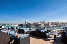 Sofitel Marseille Vieux port and its new terrace 'du Carré'.