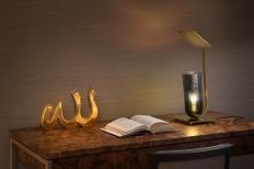 CALI, a vase by Karim Rashid. And DUSK, a reading table lamp by Brad Ascalon