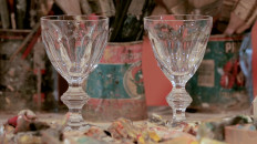 Harcourt crystal glass in the movie by Joséphine de la Baume for Baccarat Legendary