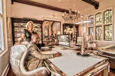 Glenn and Shannon Dellimore in their offices at GLAMLAND manor.