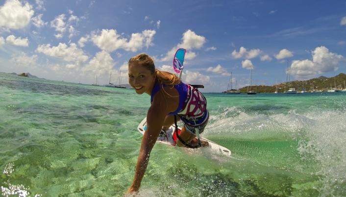 Marie Desandre Navarre, Kite surfeuse professionnelle, membre du team Sosh