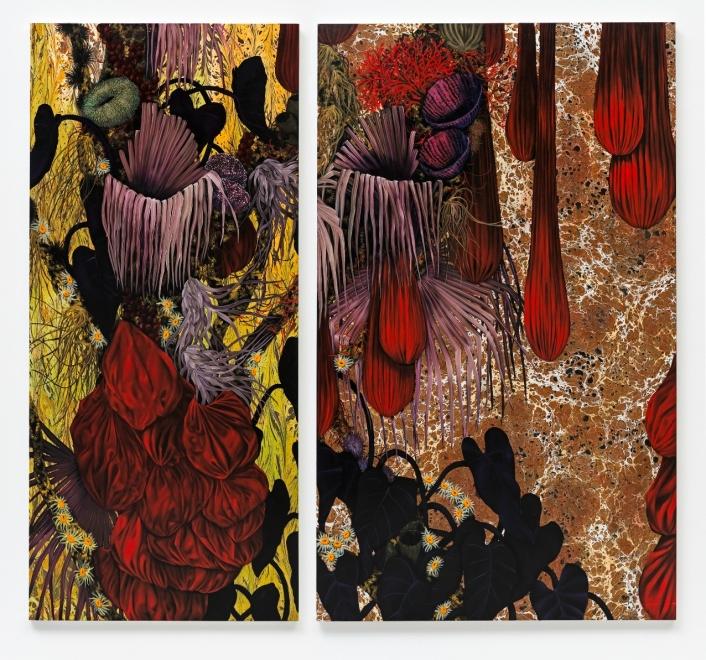 Galeria: Casa Triângulo Artista/artist: Mariana Palma Titulo/title: Sem Título, 2014 Técnica/Technique: Óleo e Acrílica sobre tela Dimensões/dimensions: 200 X 210 cm