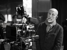 Director John Malkovich during the shooting of A post card from Istanbul at the St Regis hotel.