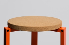 WH Stanley Stool in orange