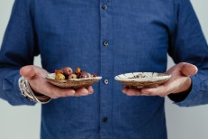 Handmade plates by Maison Godillot. copyright Troistudios Photography.