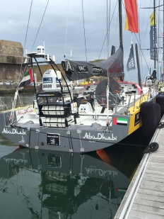 The Volvo Ocean Race stopped in Lorient, France. Team Abu Dhabi's boat.