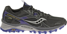 Saucony Xodus 5.0 GTX Black Purple with Gore-Tex technology
